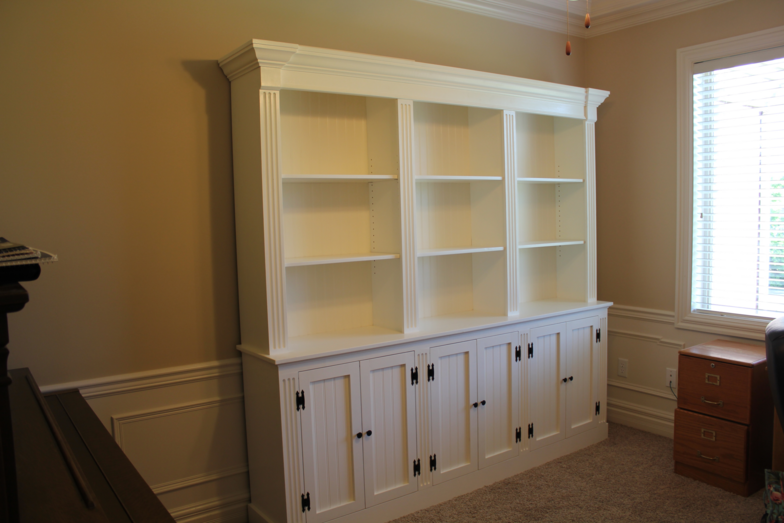 Bookshelves with Cabinets On Bottom